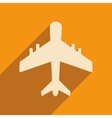 Flat with shadow icon and mobile applacation plane vector image