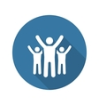 Success Icon Business Concept Flat Design vector image