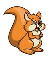 Cute smiling squirrel 2 vector image