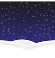 Background winter vector image vector image