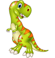 Cartoon funny tyrannosaurus isolated vector image vector image