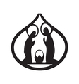 Holy family Christian silhouette icon on white vector image