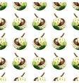 Chestnut walnut watercolor seamless pattern vector image
