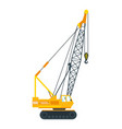 construction machinery tall crane lifts slab vector image