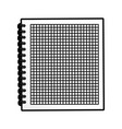 cute notebook graphic design vector image