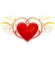 Heart Valentines Day decorations vector image