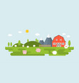 info graphic and elements of farming landscapes vector image