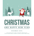 merry christmas silhouette style background vector image