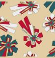 ribbon christmas concept seamless pattern vector image