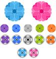 Set of colored ornaments Spirographs Mandalas vector image