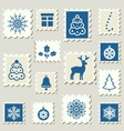 Postage stamps winter vector image