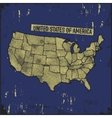 Retro distressed insignia with US map vector image