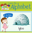Flashcard letter I is for igloo vector image