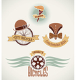 Vintage bicycle labels vector image vector image