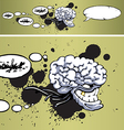 Sinister Big-brain Monster vector image