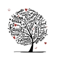 Family tree sketch for your design vector image