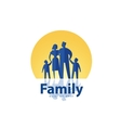 family logo design template people or society icon vector image
