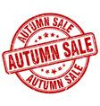 autumn sale red grunge round vintage rubber stamp vector image