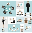 Business meeting icons vector image