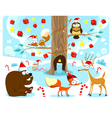 Christmas in the wood vector image