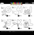 educational cartoon alphabet for kids coloring vector image