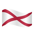 flag of alabama waving on white background vector image