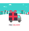free delivery concept in flat style vector image