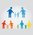 happy family icons vector image
