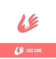 Isolated child and adult hands logo vector image