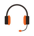 isolated headset icon image vector image