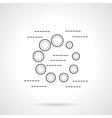 Preloader flat line icon vector image