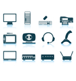 Set of hardware icons vector image