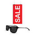 sunglasses sale sign vector image