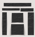 textured banners set texture black wrinkled skin vector image