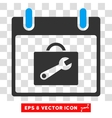 Toolbox Calendar Day Eps Icon vector image