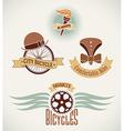 Vintage bicycle labels vector image