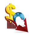 bear wall street business world finance vector image