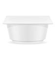 plastic container of yogurt 03 vector image