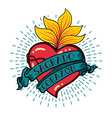 Sacred Heart old schooll style vector image
