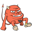 cartoon red devil vector image
