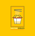 chinese and asian food concepts vector image