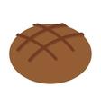 bread bakery food icon vector image