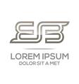 alphabet lettering bb lettemark design vector image
