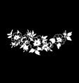 Beautiful blossoming wild rose branch vector image