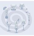 Drinks Set vector image