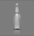 empty transparent beer or water bottle realistic vector image