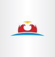 falcon logo icon symbol vector image