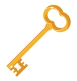 golden key on white vector image