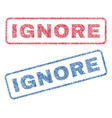 ignore textile stamps vector image