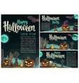 posters poster with halloween party calligraphy vector image